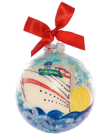 Christmas Ball Ornament - Cruise Ship