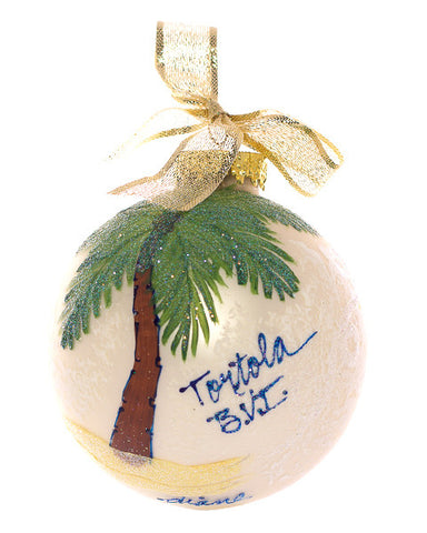 Christmas Ball Ornament - Frosted Palm