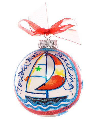 Christmas Ball Ornament - Sailboat