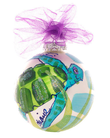 Christmas Ball Ornament - Turtle