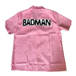 Dragon Ball Z Cosplay Vegeta Badman Pink Shirt