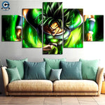 Dragon Ball Super Canvas Wall Art 5 Piece <br>Broly )