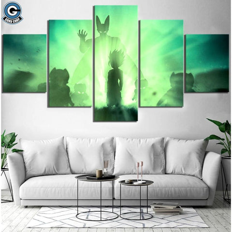 Dragon Ball Z Canvas Wall Art 5 Piece <br>Gohan SSJ2 vs Cell )