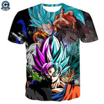 Rose Goku Black Shirt