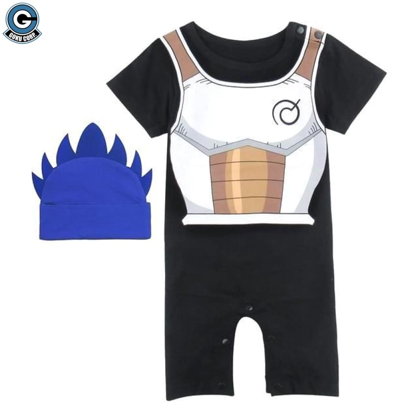 Dragon Ball Z Baby Clothes Vegeta Black Costume