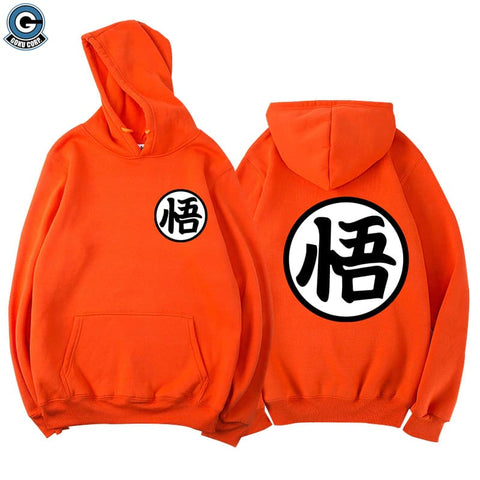 Dragon ball hoodie orange