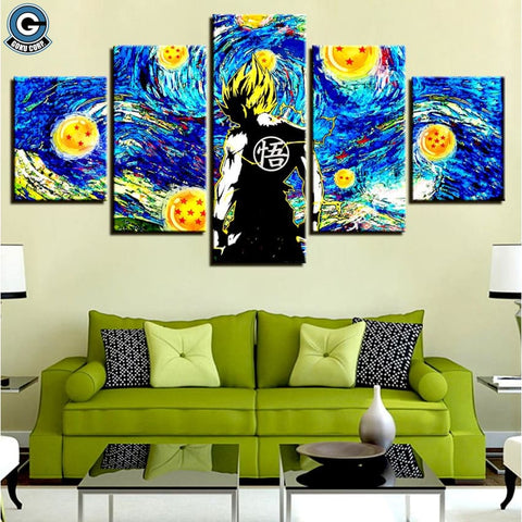 Goku Painting on Canvas