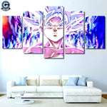 goku ultra instinct 5 piece canvas