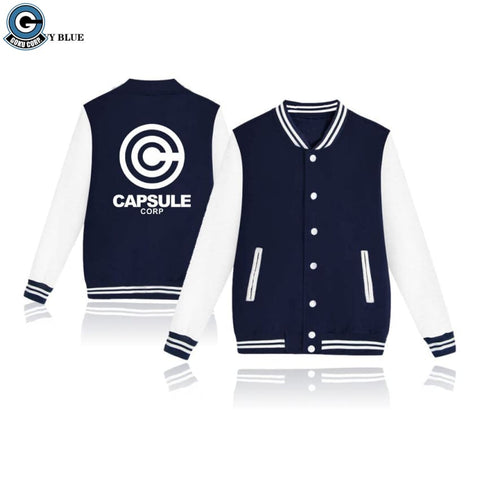 Dragon Ball Z <br>Varsity Jacket <br>Capsule Corp )