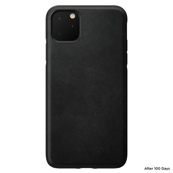 Nomad Rugged Leather Case for iPhone 11 Pro Max - Black
