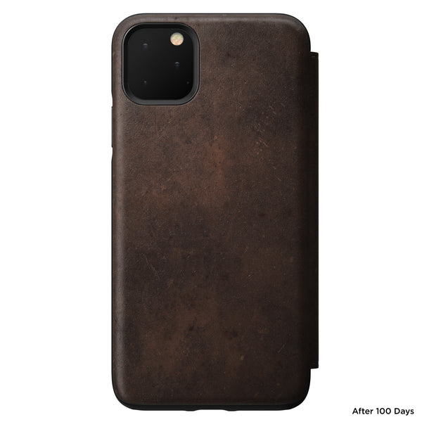 Nomad Rugged Folio Leather Case for iPhone 11 Pro Max - Rustic Brown