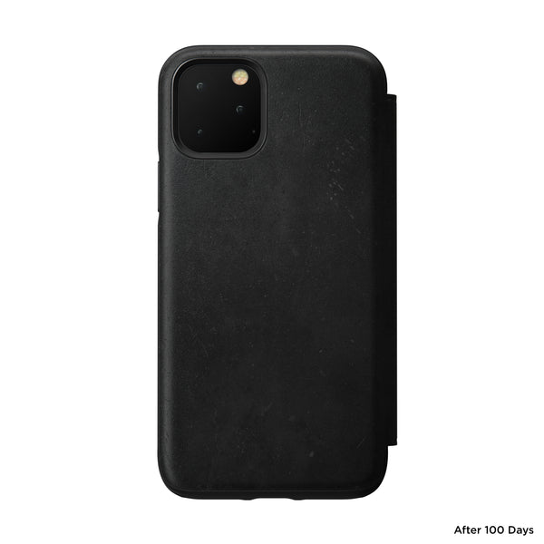 Nomad Rugged Folio Leather Case for iPhone 11 Pro - Black