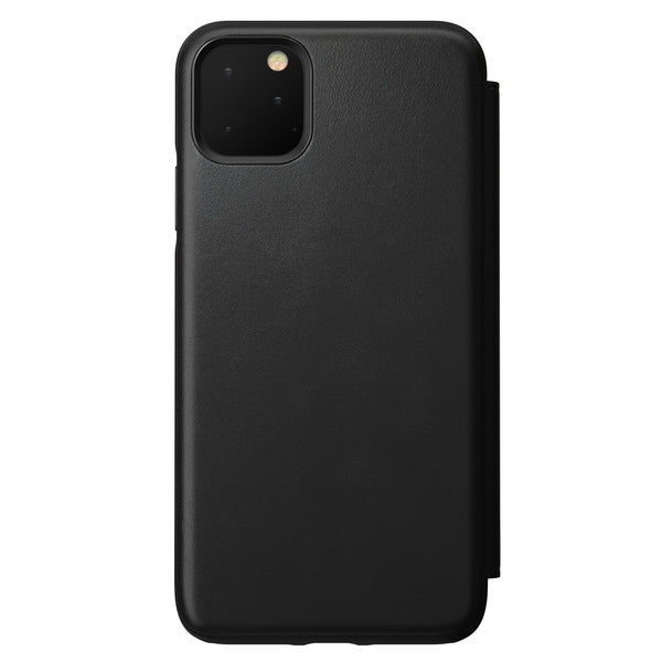 Nomad Rugged Folio Leather Case for iPhone 11 Pro Max - Black