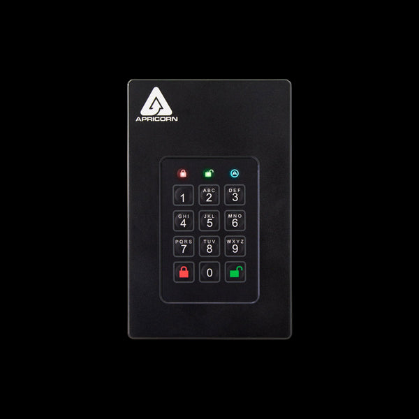 Apricorn Aegis 512GB SSD Fortress L3 AES XTS Encryption Portable Drive