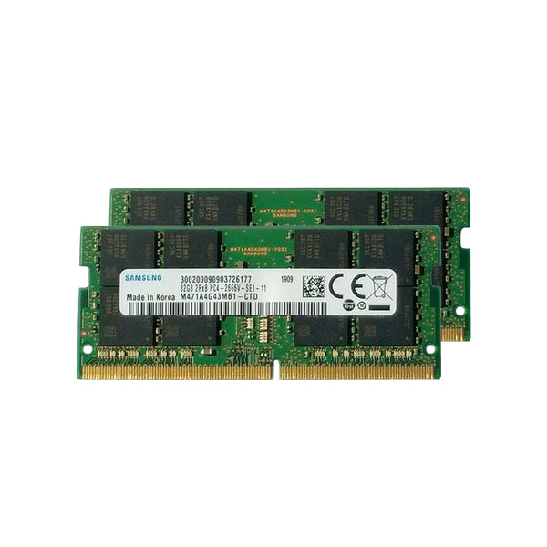 64GB Samsung Matched Memory Upgrade Kit (2 x 32GB) 2666MHz PC4-21300 DDR4 SO-DIMM