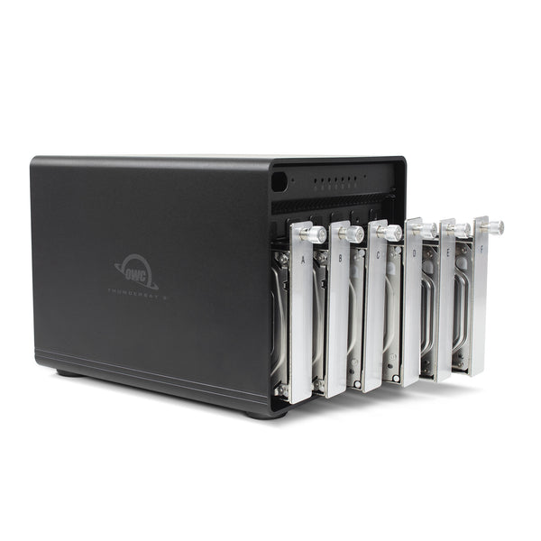 OWC 36TB HDD ThunderBay 6 with Dual Thunderbolt 3 Ports and SoftRAID XT Lite
