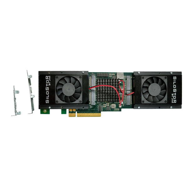 4TB JMR SiloStor NVME SSD x16 PCIe Quad Drive Card (Half-height, full-length)