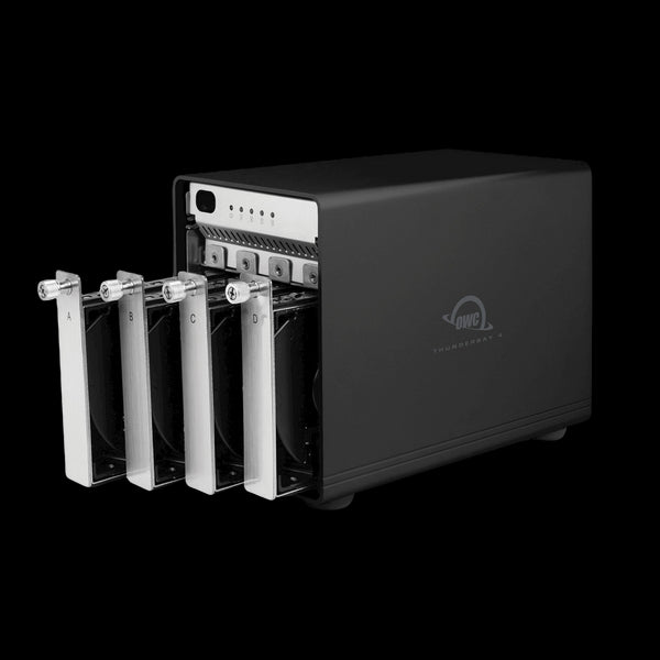 4TB OWC ThunderBay 4 RAID 5 (Thunderbolt 2 Model) with Dual Thunderbolt 2 Ports and SoftRAID XT