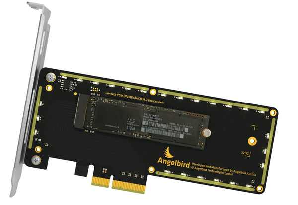 Angelbird Wings PX1 - PCIe 3.0 x4 adapter for PCIe M.2 SSDs