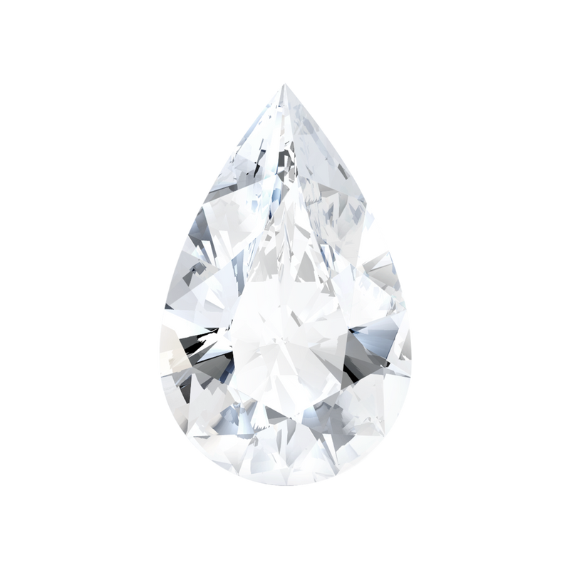 0.59 Carat  | Pear | J Colour | SI1 Clarity | Lab Grown Diamond