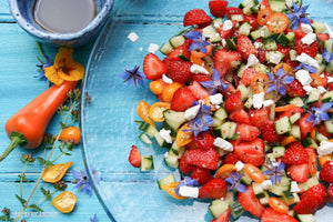 Strawberry & Cucumber Salad with Sweet Drop Chillies