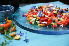 Bright and colourful salad