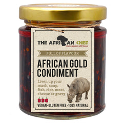African Gold Condiment - Full of flavour chilli Afircan sauce