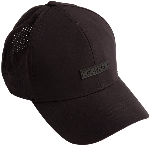 Albatross Black Golf Hat TRUWEAR Logo.