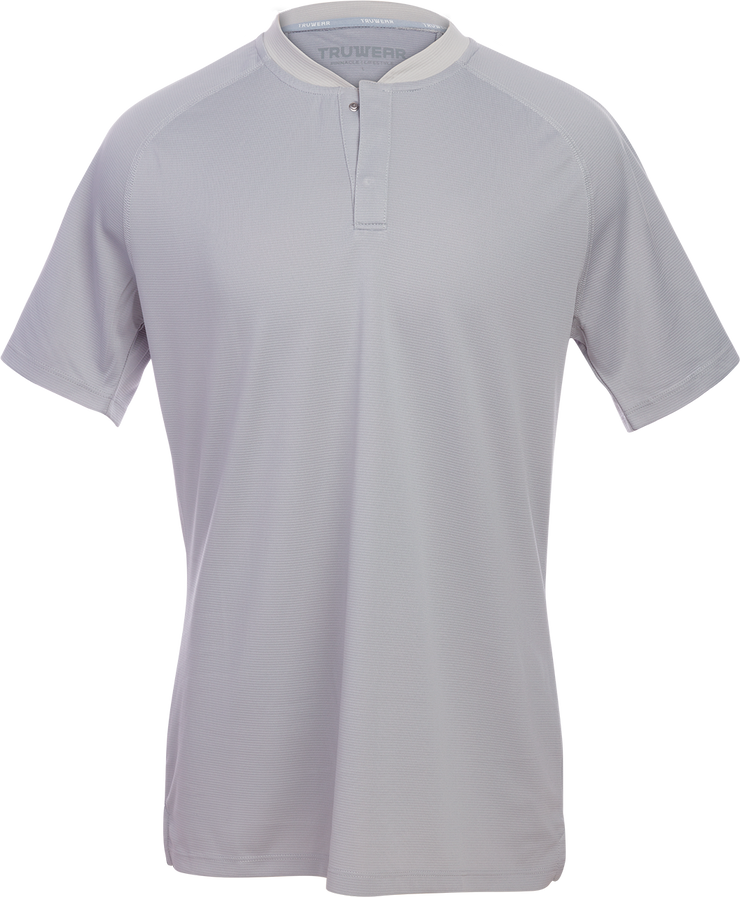 Pinnacle Lifestyle Grey No Collar Polo.