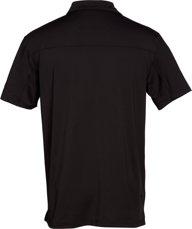 Crest Lifestyle Performance Fabric Black Polo.