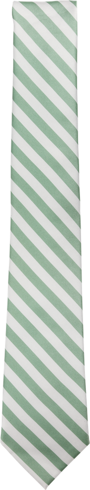 Immortal Green & White Striped Dress Tie.