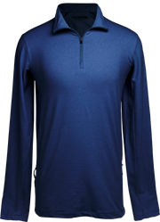 Apex Lifestyle Mens Navy Blue Quarter Zip Pullover.