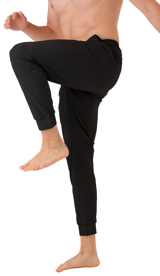 Peak Lifestyle Black Performance Men's Joggers.