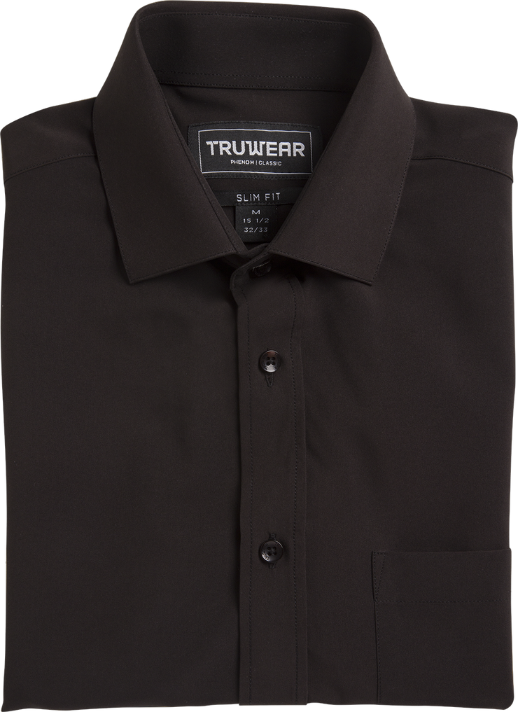 TRUWEAR Phenom Classic Black Short Sleeve Dress Shirt