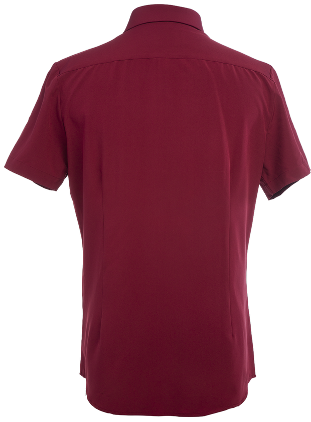 Phenom Classic Maroon Short Sleeve Dress Shirt
