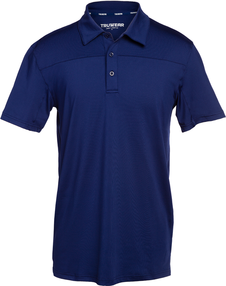Crest Lifestyle Performance Fabric Navy Blue Polo.
