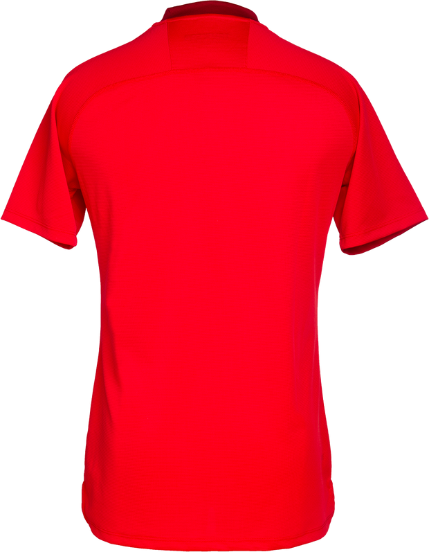 Pinnacle Lifestyle Red No Collar Polo.