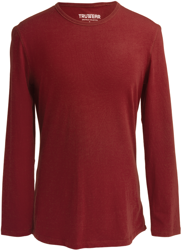 Spectacle Lifestyle Maroon Long Sleeve Dress T-Shirt