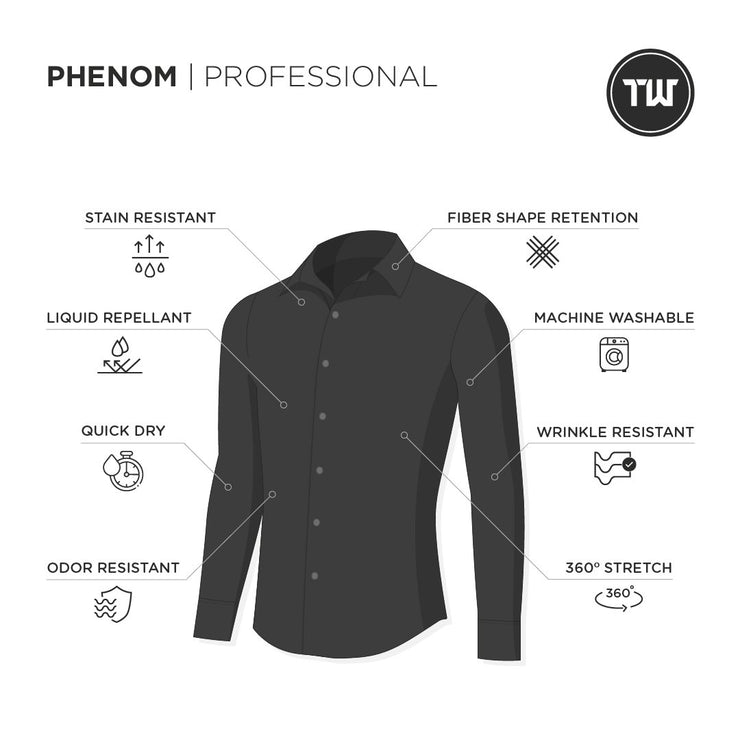 Phenom Professional Black Long Sleeve Dress Shirt