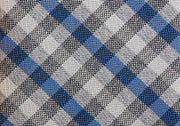 TRUWEAR Immortal Royal Blue & Grey Checkered Dress Tie