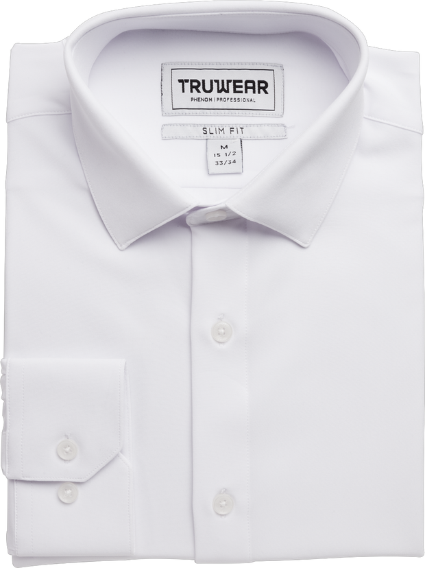 Phenom Professional White Long Sleeve Dress Shirt
