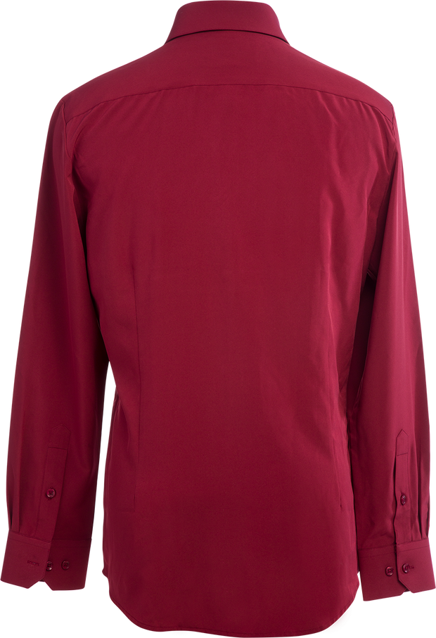 Phenom Professional Maroon Long Sleeve Dress Shirt