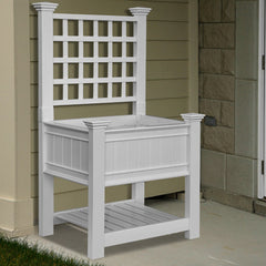 Kingsrow Raised Planter with Trellis