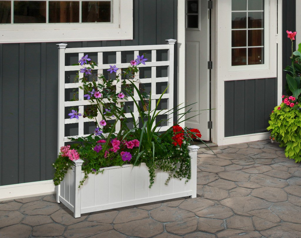Huron Planter with Trellis