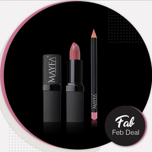 Cocktail Lipstick With Glaciar Pink LipPencil Free