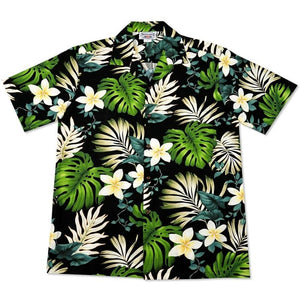 amazon black hawaiian cotton shirt | hawaiian shirt men