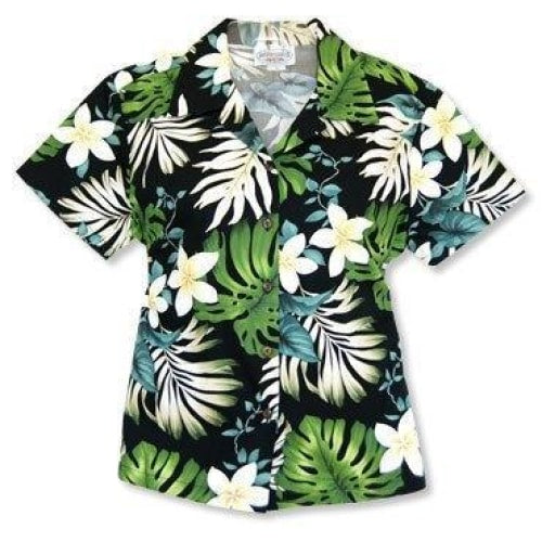 amazon black hawaiian lady blouse | women blouse hawaiian