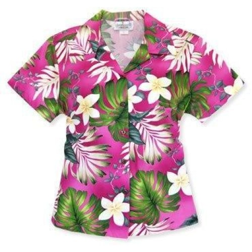 amazon pink hawaiian lady blouse | women blouse hawaiian