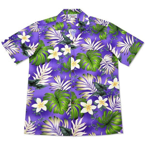 amazon purple hawaiian cotton shirt | hawaiian shirt men