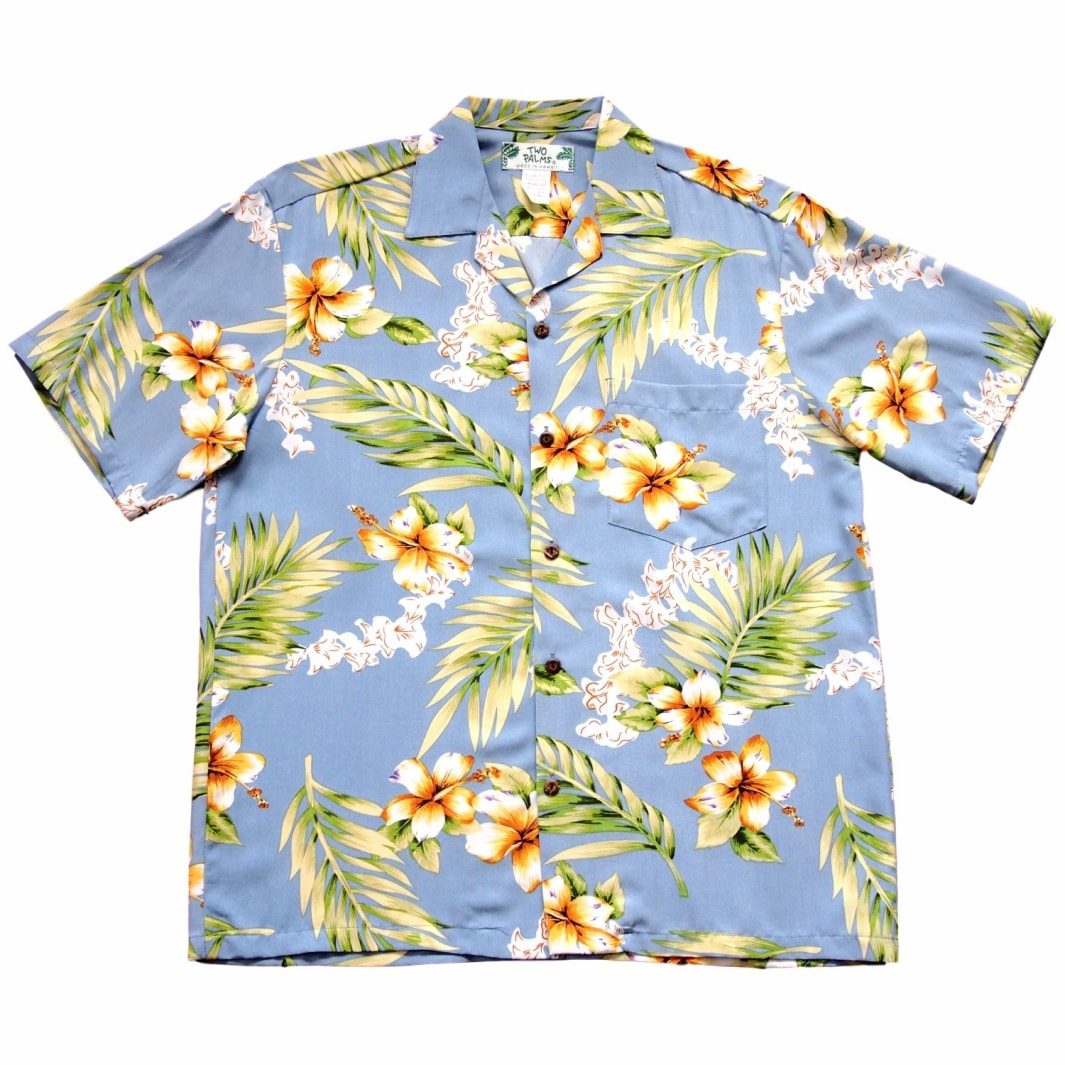 atoll blue hawaiian rayon shirt | hawaiian men shirt
